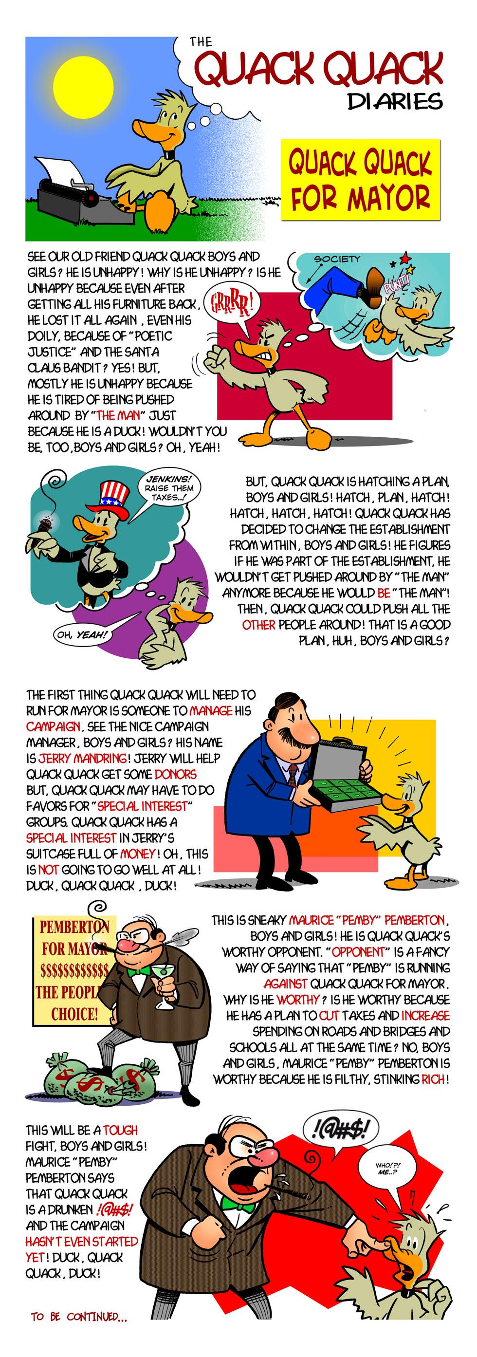 Quack Quack For Mayor